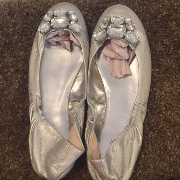Guess by Marciano Shoes - Guess Silver Flats